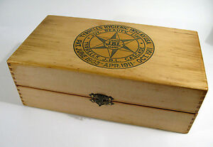 Antique Early 1900s Tyrrells Jbl Cascade Storage Box With Printed Instructions