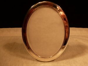Tiffany Co Sterling Silver Oval 3 X 4 Desk Boudoir Picture Frame Wood Back