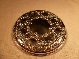 Elegant Towle Silversmiths Sterling Silver 3 Round Purse Make Up Mirror