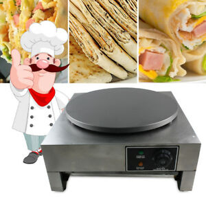 Commercial Electric Crepe Maker single Griddle Hot Plate Pancake Making Machine