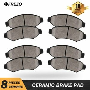 Front Rear Ceramic Brake Pads Fits 2007 2008 2009 2010 2011 2013 Nissan Altima