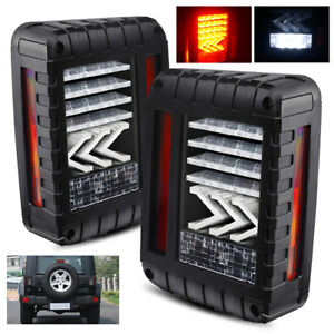 For 2007 2018 Jeep Wrangler Jk 3d Led Tail Lights Arrow Turn Signal Assembly Set