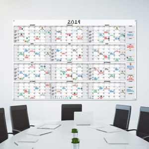 Planning At A Glance Large Annual Dry Erase Board Wall Calendar Planner 2019
