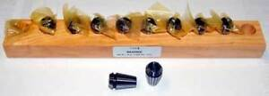10 Pc Techniks Er16 1mm 10mm X1mm 0002 avg Tir Precision Cnc Collet Set