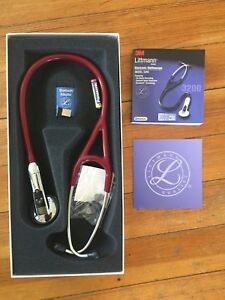 3m Littmann Electronic Stethoscope Bluetooth Model 3200 In Burgundy