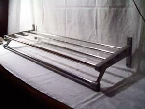 Vogel Peterson Co Industrial Coat Rack Shelf Aluminum Mid Century Modern 1960s