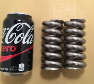 437 Stainless Steel Wire Heavy Duty Compression Spring Lot Of 2