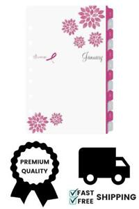 2019 Day timer Pink Ribbon Two page per week Organizer Refill 5 1 2 X 8 1 2