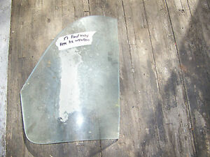 1951 Ford Vicky Victoria Rear Passenger Glass Window Assy