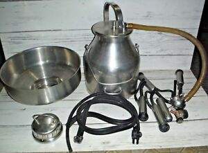Delaval Pail Bucket Milker Goat Cow Milking Machine Stainless Steel