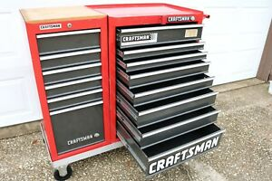 Vintage Craftsman Mechanics Toolbox With Rolling Dolly