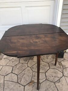 1840 S Period Empire Game Table Card Flip Top Wall Hall