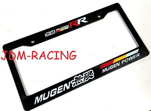 X1 Jdm Mugen Rr Racing License Plate Frame Universal For Honda Civic Si