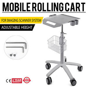 Mobile Rolling Cart For Ultrasound Imaging Scanner System Aajustable Height