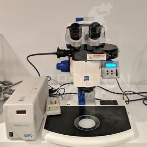 Zeiss Discovery V12 Trinocular Fluorescence Stereo Microscope