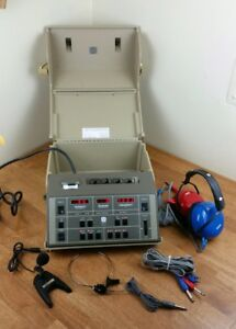 Maico Ma41 Audiometer With Case Power Cable Headphones Powers On Untested