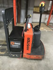 Hyster B80z 8000lbs Pallet Jack Fork Lift With 96 8ft Extended Long Fork Rider