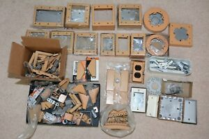 Huge Lot Vtg Wiremold Electrical Wire Covers Plates Boxes Elbows Raceway Parts