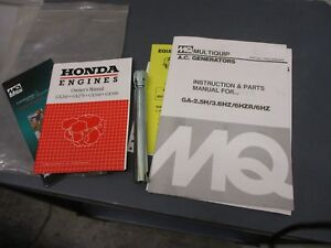 Mq Multiquip A c Generators Instructions Parts Manual For Ga 2 5h 3 6hz 6hzr