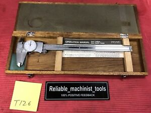 Mitutoyo 12 Inch Dial Caliper Model 505 677 d12tn Machinist Tool t126
