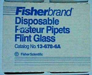 Fisherbrand 5 3 4 Flint Glass Pasteur Pipets P n 13 678 6a