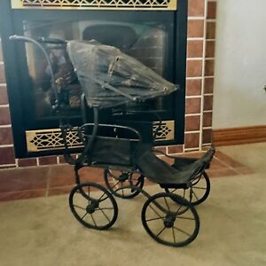 Antique Vintage Victorian Baby Doll Stroller Fa Whitney 1800 S