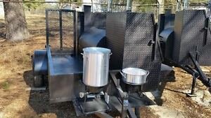 Start A Bbq Restaurant Catering Business Smoker 36 Grill Trailer Food Cart Truck