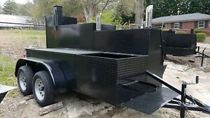 City Bigfoot Bbq Smoker Grill Trailer Food Truck Mobile Catering Concession Cart