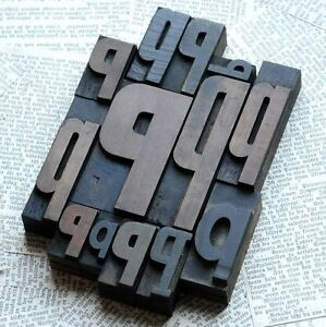 Ppppp Mixed Set Of Letterpress Wood Printing Blocks Type Woodtype Wooden Printer