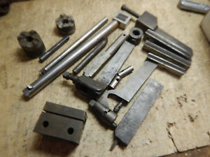 Pile Of Older Machinist Metal Lathe Tool Holders Parts And Pieces