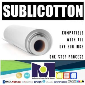 Roll Of Sublicotton Heat Transfer Paper 24 x50 Go To Cotton In One Step