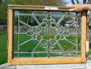 Antique Beveled Leaded Stained Glass Window 6 Fancy