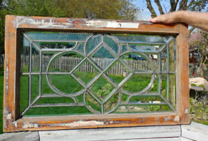 Antique Beveled Leaded Stained Glass Window 9