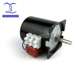220v 28w 10rpm Low Noise Gearbox Electric Motor 50hz 60hz Ac Synchronous Motor