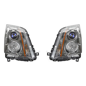 Fits 2008 2014 Cadillac Cts Headlight Driver And Passenger Side Nsf W bulbs