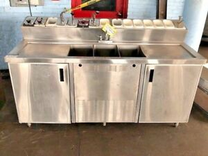 Ice Cream Dipping Freezer Cabinet Fountain Syrup Rail Stainless