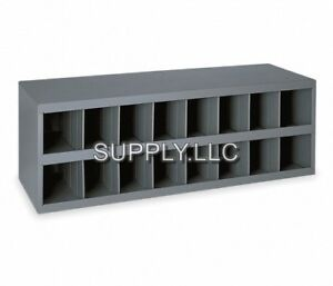 Metal 16 Hole Storage Bolt Bin Cabinet Compartment Nuts Bolts Fasteners Screws