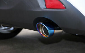 For Mazda 3 Axela Hatchback 2014 18 Blue Rear Exhaust Muffler Tail Pipe End Tips