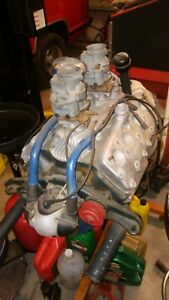 1937 38 Ford Flathead V8 60 Midget Engine And Trans Dual Carb Aluminum Heads