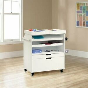 Sauder Select Craft Cart In Soft White
