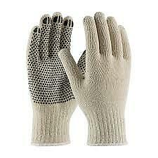 240 Pair 20 Dozen Seamless Knit Work Glove With Pvc Dot Grip