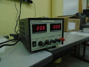 Electro Industries Model Digi 35a Regulated Dc Power Supply 3 Amp Output 0 30v