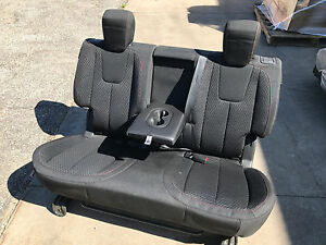 New 2011 2013 Chevy Equinox Black Red Stitching 2nd Second Row Rear Bench Seat