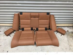 07 13 Oem Bmw E93 328 335 Convertible Brown Interior Rear Bottom Upper Seats Set