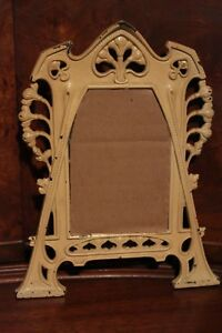Vintage Wrought Iron Shabby Chic Art Deco Hanging Frame Unusual 5 5 X 3 75