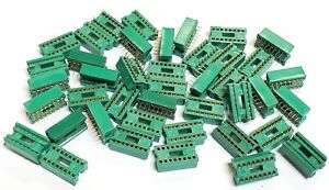 Lot Of 42 Augat 16 Pin Gold Ic Sockets