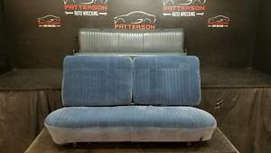 1989 Ford Pickup F250 Set Of Front Rear Bench Seats Blue Trim Code 9m Worn