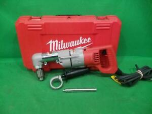 Milwaukee 7 Amp Corded 1 2 In Corded Right angle Drill Kit With Har ss2027633