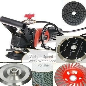 Wet Polisher Grinder Stone Cutter Lapidary Saw 36 Pad Blade Floor Granite Cement