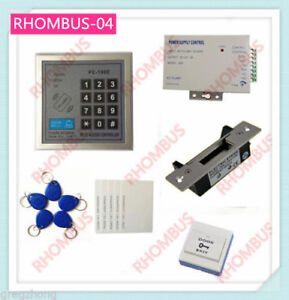 Access Control System W blot Electronic Lock exit Button 10 Em Card power Supply